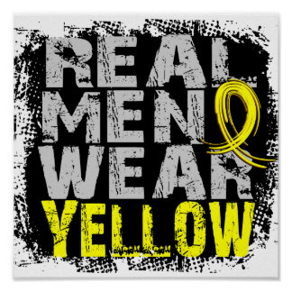 Endometriosis Real Men Wear Yellow Posters