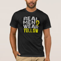 Endometriosis Real Men Wear Yellow T-Shirt