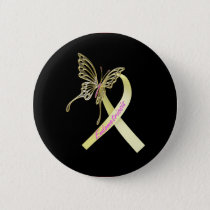 Endometriosis Ribbon Pinback Button
