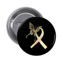 Endometriosis Ribbon Pinback Button