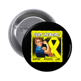 Endometriosis Rosie Riveter - Fight Like a Girl Buttons
