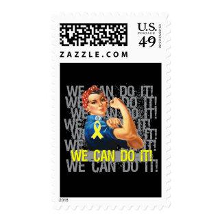 Endometriosis Rosie WE CAN DO IT Postage Stamp