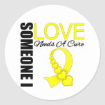 Endometriosis Someone I Love Needs A Cure Classic Round Sticker