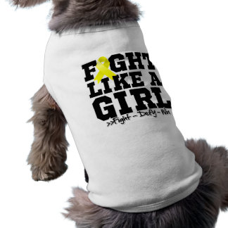 Endometriosis Sporty Fight Like a Girl Doggie Tshirt