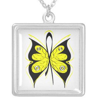 Endometriosis Stylish Butterfly Awareness Ribbon Custom Jewelry