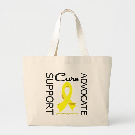 Endometriosis Support Advocate Cure Canvas Bags