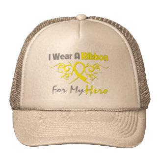 Endometriosis Tribal Deco Ribbon Hero Trucker Hat