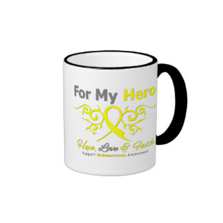 Endometriosis Tribal Ribbon Hero Ringer Mug