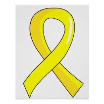 Endometriosis Yellow Ribbon 3 Poster