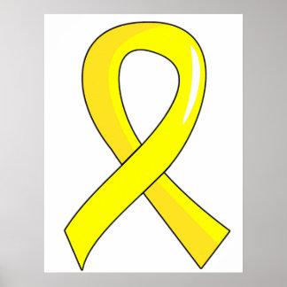 Endometriosis Yellow Ribbon 3 Poster