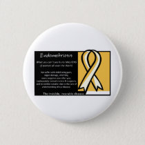 Endometriosis- Yellow Ribbon Button