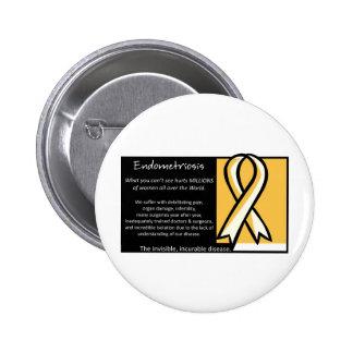 Endometriosis- Yellow Ribbon Pins