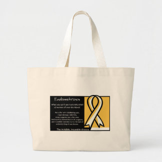 Endometriosis- Yellow Ribbon Large Tote Bag