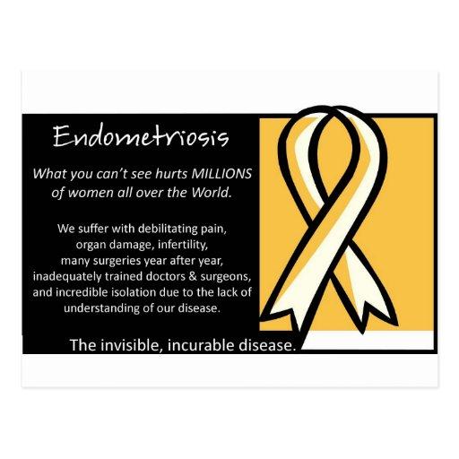 Endometriosis- Yellow Ribbon Postcard