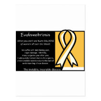 Endometriosis- Yellow Ribbon Postcard