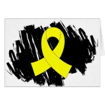 Endometriosis Yellow Ribbon With Scribble Card