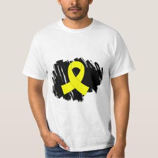 Endometriosis Yellow Ribbon With Scribble T-Shirt
