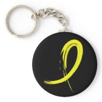 Endometriosis's Yellow Ribbon A4 Keychain