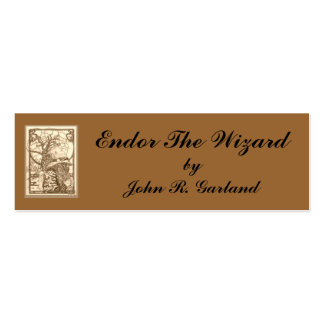 Endor Wizardsepia, Endor The Wizard, byJohn R. ... Double-Sided Mini Business Cards (Pack Of 20)