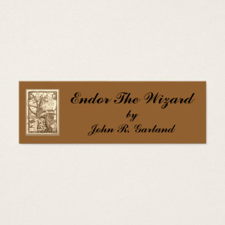 Endor Wizardsepia, Endor The Wizard, byJohn R. ... Mini Business Card