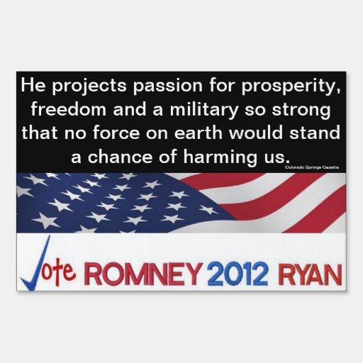 Endorsement Romney! Colorado Springs Gazette Sign