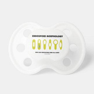 Endospore Morphology Who Said Were All Alike? Pacifier