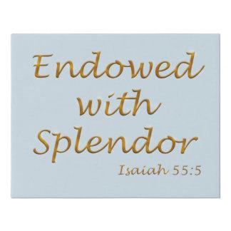 Endowed with Splendor 12x14 canvas