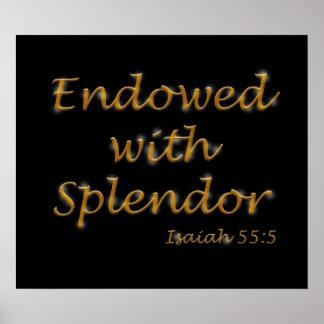 Endowed with Splendor Poster 20x16