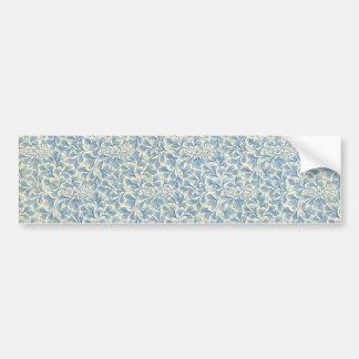 endpaper leaf floral pattern vintage illustration bumper sticker