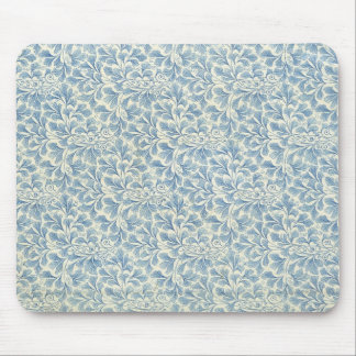 endpaper leaf floral pattern vintage illustration mouse pad