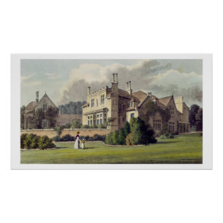 Endsleigh, from Ackermann's 'Repository of Arts', Poster