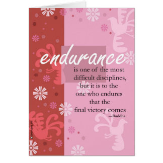 Endurance Greeting Card