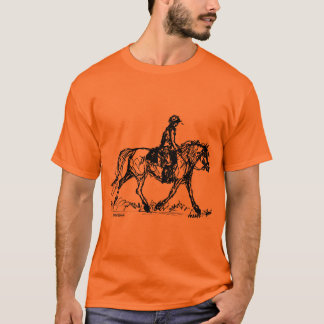 Endurance Horse Simple Sketch T-Shirt