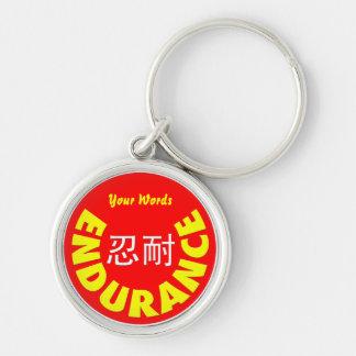 Endurance - Ren Nai Silver-Colored Round Keychain