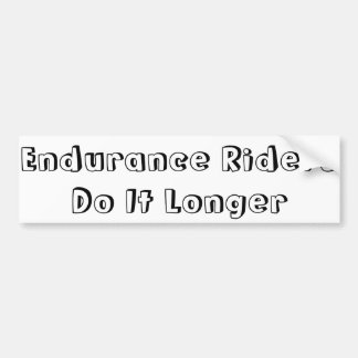 Endurance Riders Bumper Sticker Car Bumper Sticker