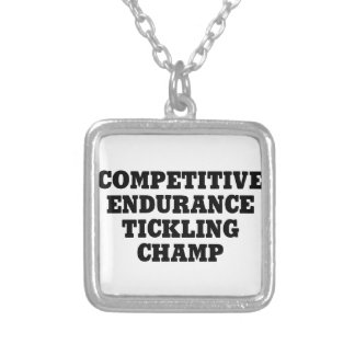Endurance Tickling Champ Silver Plated Necklace