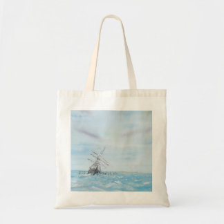 Endurance trapped by the Antarctic Ice. Painted Budget Tote Bag