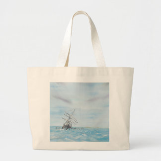 Endurance trapped by the Antarctic Ice. Painted Jumbo Tote Bag
