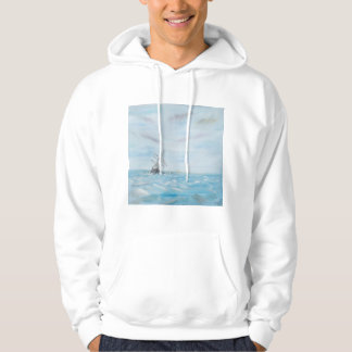Endurance trapped by the Antarctic Ice. Painted Hoodie