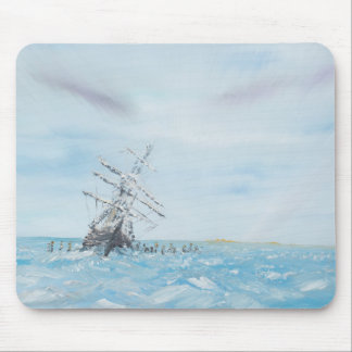 Endurance trapped by the Antarctic Ice. Painted Mouse Pad