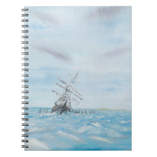 Endurance trapped by the Antarctic Ice. Painted Notebook