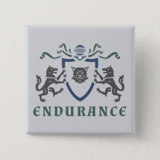 Endurance Wolf Blazon Button