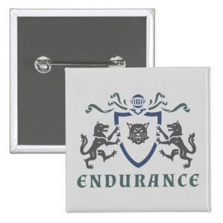 Endurance Wolf Blazon Button