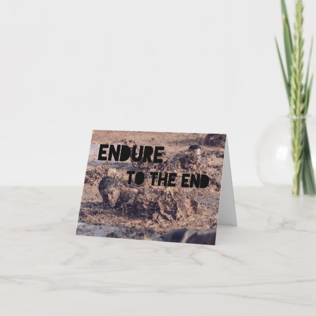 Endure Christian Army Soldier Boot Camp Cadet Card