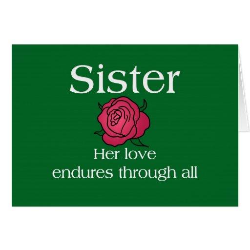 Enduring Love Sister Greeting Cards