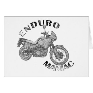 Enduro Maniac - Biker Greeting Card