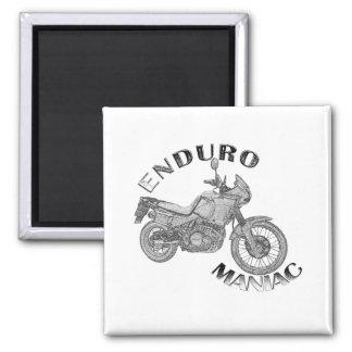 Enduro Maniac - Biker 2 Inch Square Magnet
