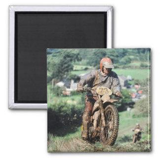 enduro motorbike rider magnet
