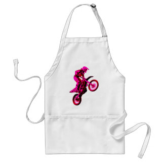 Enduro pink adult apron
