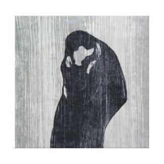Endvard Munch The Kiss IV Canvas Print